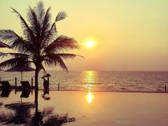 The sunset in Palmy Phu Quoc resort & Spa